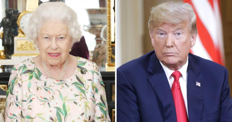 The Queen Wears Brooch The Obamas Gave Her For Trump Visit