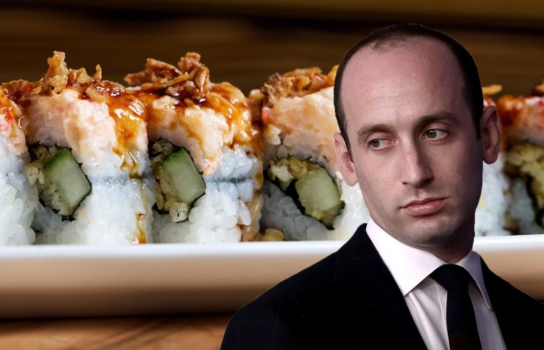 Stephen Miller Tosses $80 Worth Of Sushi After Being Heckled