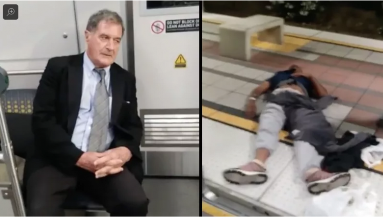 White Dude Dragged Inconveniently Unconscious Black Man Off Train