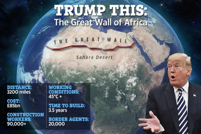Trump Suggested Building A Wall Across The Sahara Desert