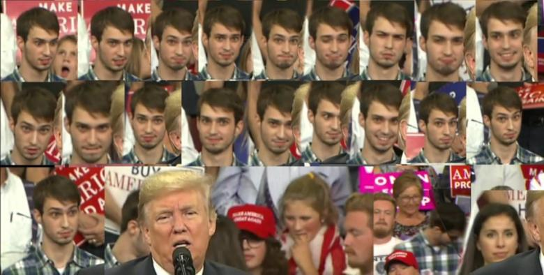Hilarious 'Plaid Shirt Guy' At Trump Rally Removed From Camera Shot