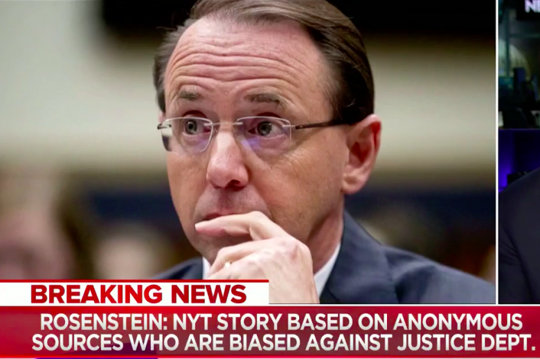 New York Times Tries To Get Rosenstein Fired