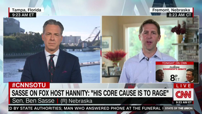 Sen. Ben Sasse Lies About Hannity And Maddow Having The 'Same Business Model'