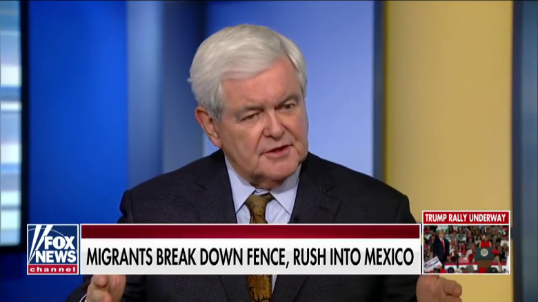 Newt Gingrich Continues To Feed Trump His Hate-Filled Talking Points On Immigration