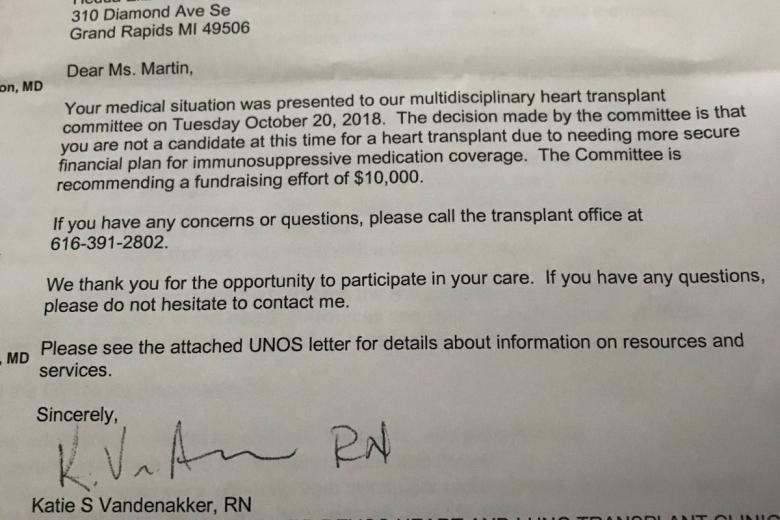 Heart Transplant Patient's Letter From Spectrum Health Goes Viral