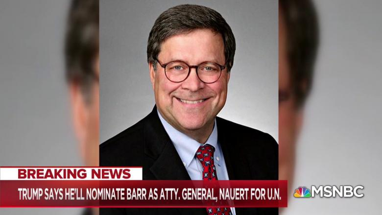 Barr Nomination For AG Makes George H.W. Bush Look Bad
