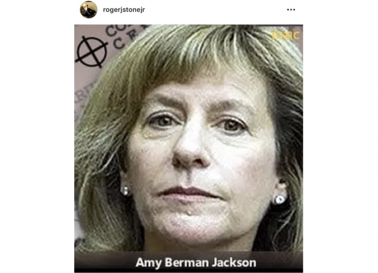UPDATE 3: Roger Stone Apologizes To Judge Amy Berman Jackson After Putting Her In Crosshairs