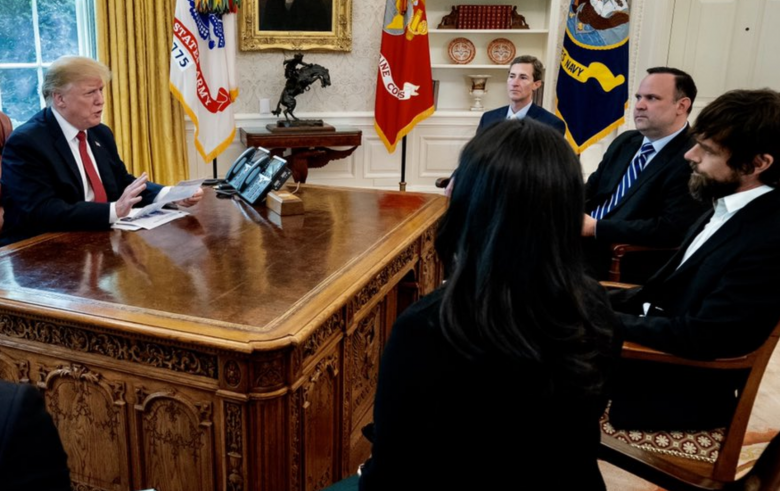 Trump Whines About Losing Followers In White House Meeting With Twitter CEO