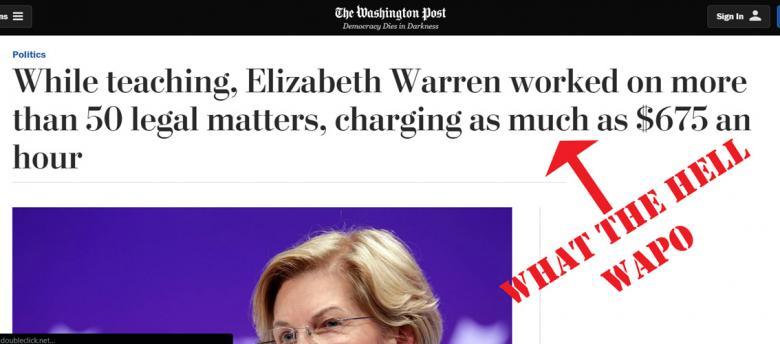 Washington Post Is Shocked Elizabeth Warren Got Paid