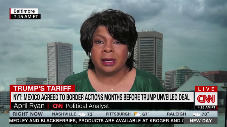 April Ryan Flattens Trump For 'Rebranding' Trade Deal With Mexico Done By Former DHS Head Kirstjen Nielsen
