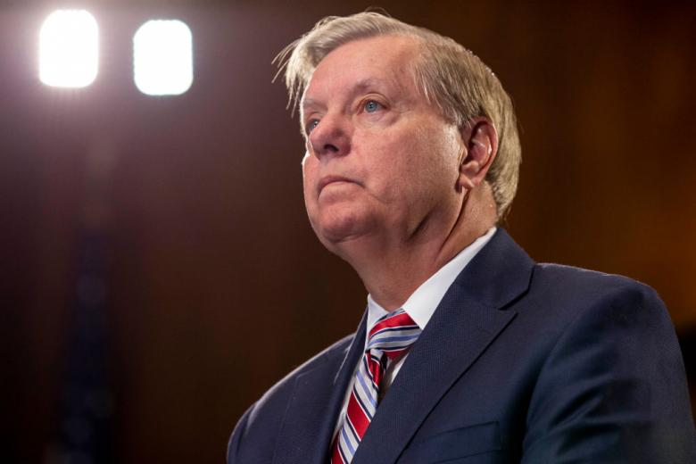 Trump Toady Lindsey Graham Trips Over His Own Tongue