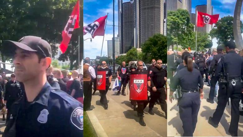 WATCH: Detroit Police Under Fire For 'Marching' With Nazis At Pride Parade