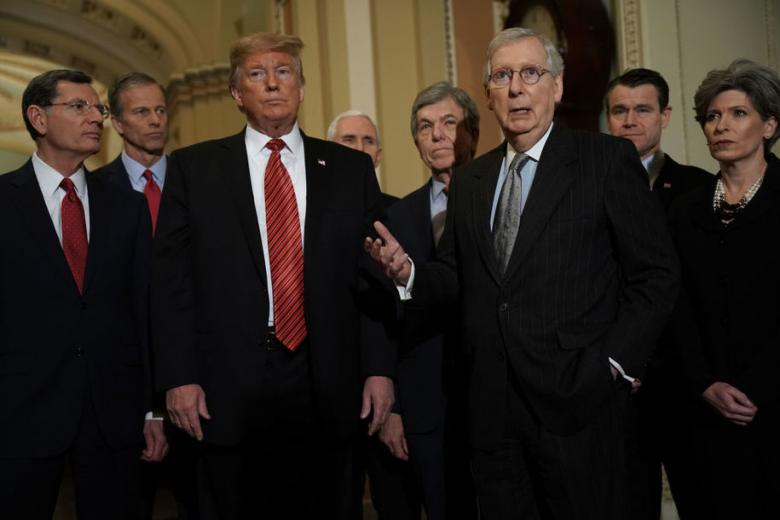 Senate Republicans Go Through The Motions Of Pretending That They'll Stand Up To Trump On The Budget