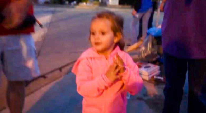 Three-Year-Old Joins The UAW Picket Line: 'Better Wages, More Toys!'