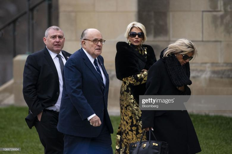 Giuliani Took His Ukrainian 'Associates' To Bush 41's Funeral