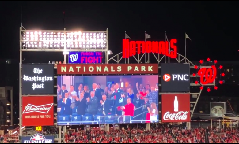 Crowd Boos, Shouts 'Lock Him Up!' At Trump During World Series Game 5