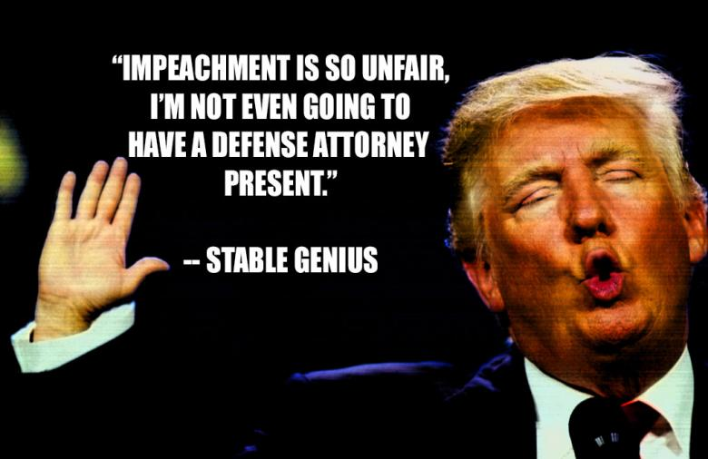 Unfair?  Trump Is Literally Waiving His Due Process Rights