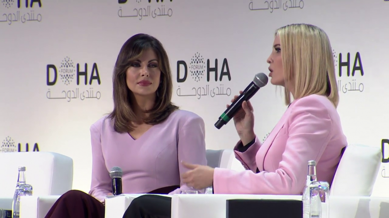Ivanka Trump Takes Questions From Her Own Aide At Doha Forum