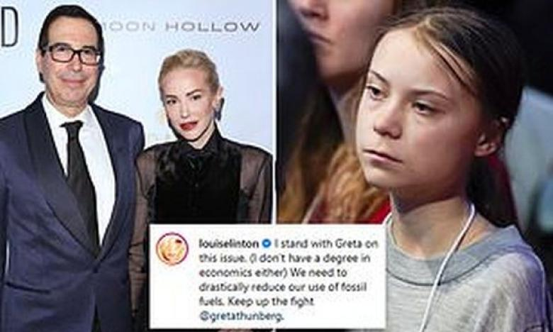 Louise Linton Sides With Greta Thunberg Over Her Husband Steve Mnuchin