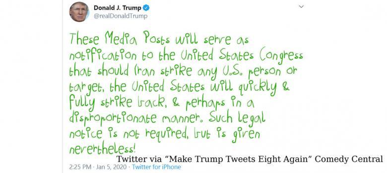 Experts Attempt To Inform Trump He Can't Declare War Via Tweet