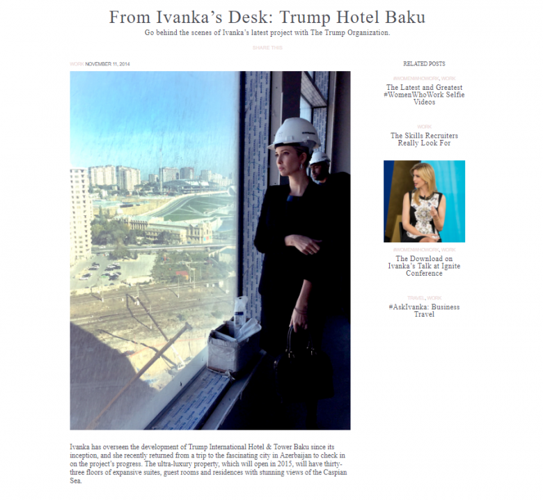 Ivanka, Trump-Azerbaijan Tower, And Money Laundering