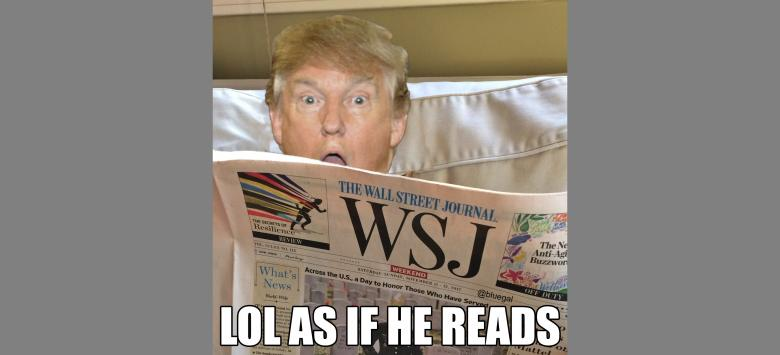 Wall Street Journal Op-Ed: 'Mr. Trump Is Debasing His Office'