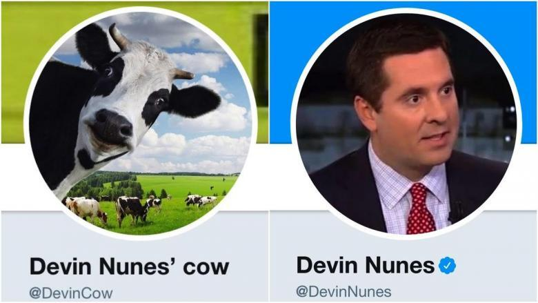 Judge Rules That Devin Nunes Can't Sue Twitter Over Statements Made By Fake Cow