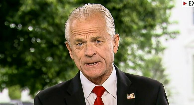 Trump Fans Cheer Peter Navarro For Allegedly Wearing 'QAnon' Flag Pin On Fox News