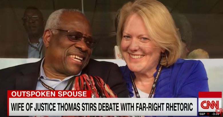 Clarence Thomas' Wife Melts Down Over Black Lives Matter Banner