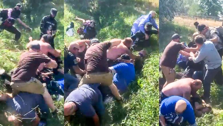 'Keep Punching Each Other': Pro-police Group Beats Down Black Lives Matter Activists In Colorado Ditch
