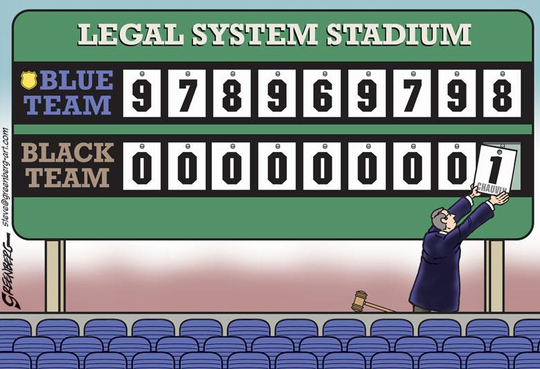 Cartoon: The Legal System Scoreboard