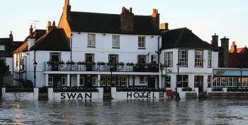 UK Floods Turn Town Into An Island