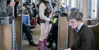 Legs Bared Around The World For Annual 'No Pants' Commute