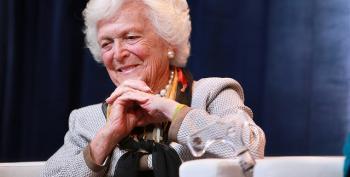 Former First Lady Barbara Bush In Hospital