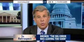 Mark Halperin To Paul Bremer: Why Should We Double Down On Same Failed Ideas In Iraq?
