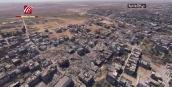 Drone's Eye View Of Gaza Devastation