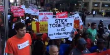 Arrests Made As Thousands Of Fast-Food Workers Strike