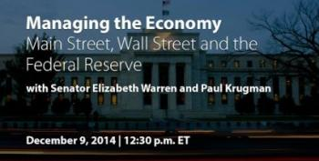 Livestream: Paul Krugman, Elizabeth Warren On Managing The Economy