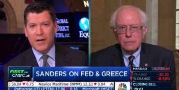 Sen. Bernie Sanders Calls For Europe's Central Bank To Help Greece
