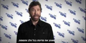 Chuck Norris Stumps For Bibi