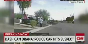 Dashcam Shows Cop Running Over Armed Suspect On Purpose