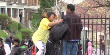 Baltimore Mom Slaps Her Son For Throwing Rocks During Riot
