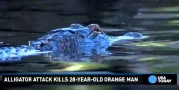 Warned About Alligators, Man Yells 'F*ck The Alligators!' Guess What?
