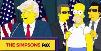 "Open Thread - Homer Simpson Gets In The Donald's ""Hair"""