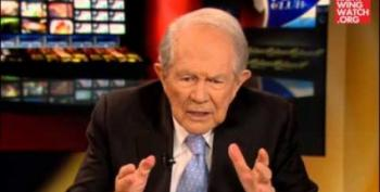 Once Again, God Calls Pat Robertson On The God-Phone To Threaten Us