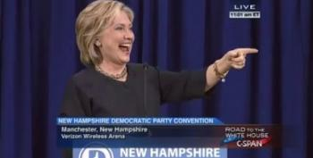 Hillary Clinton Fires Up The Base In New Hampshire
