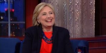 Clinton To Colbert: If There's Another Crash, She'll Let Big Banks Fail