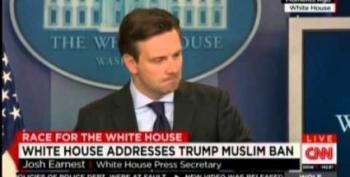 White House Says Trump's Call For Muslim Ban Disqualifies Him For Presidency