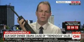 Ammosexual Fondles AR-15 Replica Of Gift To Trump Throughout CNN Interview