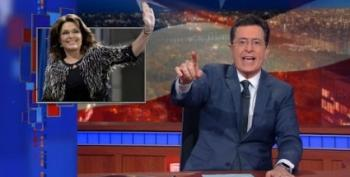Stephen Colbert Does Spot-On Sarah Palin Rant